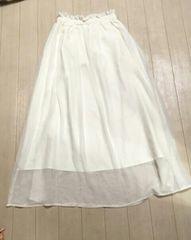 SALE!byebye☆ロングスカート☆ホワイト♪新品タグ付