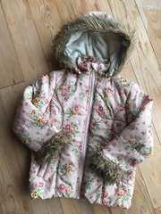 キッズ アウター コート ジャンパー 花柄 ピンク 120