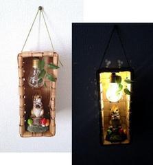 リスちゃんのお家♪バルブボトル LED テーブルライト フット