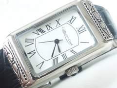3457/クラシカルフェイススクエア型ケースホワイトダイヤルメンズ腕時計格安出品