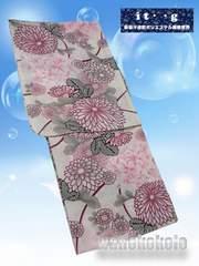 【和の志】女性用浴衣◇吸汗速乾繊維使用◇生成系・菊花柄9