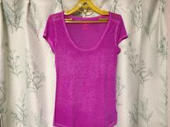 アメリカンイーグル紫色パープル半袖カットソートップスTシャツ