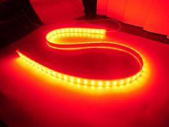 送料無料 24V トラック 船舶用 LEDテープ 航海灯 1M 赤 カバー付