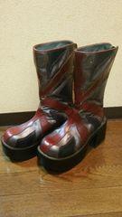 イギリス国旗ユニオンジャック柄厚底ブーツ定価17800円の品