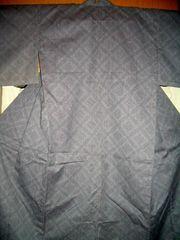 蜀江紋様ウールの単お着物