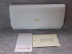新品◆ラコステ◆クラシックかぶせ長財布◆ホワイト¥16200