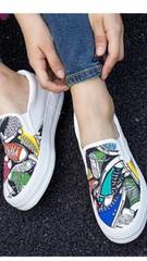 ☆新品☆可愛い*靴柄模様厚底スニーカー25.0