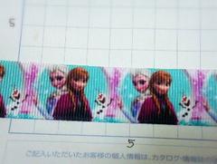 sale【オラフと姉妹】22mm巾 アナと雪の女王柄リボン1M