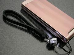 ST-SD/銀龍彫りオニキス携帯ストラップ  『幸運の龍神』