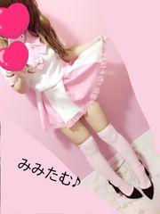 制服風コスプレ♪おピンクおリボンセーラー服ミニワンピ