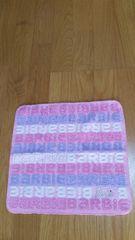 未使用 バービー フェイスタオル(ハンドタオル)ラインストーン付き ピンク ロゴ柄