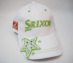 ダンロップ SRIXON スリクソン ゴルフ キャップ 白緑/プロモデル
