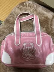 ヒスミニ ピンクのバッグ