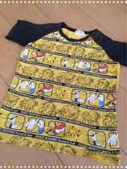 ポケットモンスター/ポケモン/黄色×薄黒/半袖Tシャツ/130�p