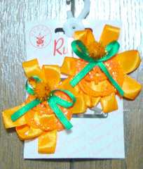新品☆ハロウィンカラーランタンおばけかぼちゃヘアピンセット