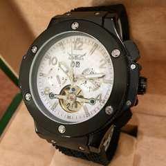 ウブロ・ビッグバンタイプ クロノグラフ自動巻きラバー腕時計 ホワイト
