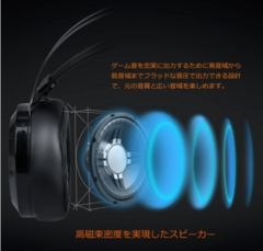 ゲーム用ヘッドホン 3.5mmコネクタ ヘッドアーム伸縮可能