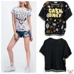 529-303246大きいサイズ☆バックシースルーTシャツ ☆LL