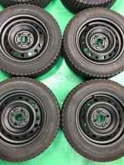 0082378)激安バリ溝ツヤ消ブラック国産スタッドレスタイヤセット175/65R14送料無料