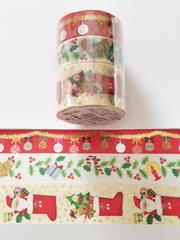 冬限定豪華マスキングテープ3巻セット《1》♪キュートクリスマス