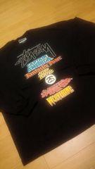 STUSSY&MARVEL コラボ WORLD-TOUR  黒 大きい  size3XL