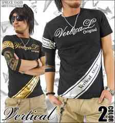 メール便送料無料【VERTICAL】Tシャツ70621新品黒銀M