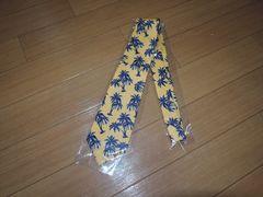 新品TMTアロハ柄ネクタイ黄色ヤシの木PAOLO ALBIZZATI