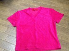 濃いめピンク★半袖Tシャツ
