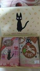 ジブリ 魔女の宅急便 黒猫ジジ ウォッシュタオル�A
