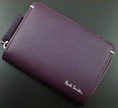 新品☆ポールスミス 人気ファスナー 二つ折り財布 f113
