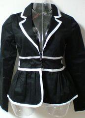 新品タグDazzlinダズリンテーラードジャケットリボン黒白