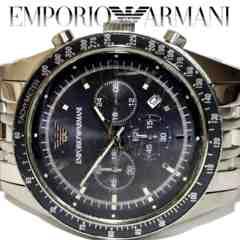 極レア 1スタ★エンポリオアルマーニ【クロノグラフ】腕時計