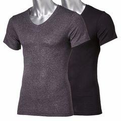 Lサイズ2枚セット吸湿発熱V首!半袖!ストレッチインナーシャツ!柔らかく薄手タイプ