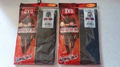 激安66%オフヒートテック、BVD、発熱長袖Tシャツ2枚(新品、黒、M)