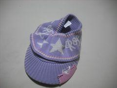 wn92 ROXY ロキシー ニットサンバイザー ビーニー 紫