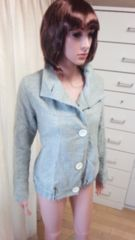 可愛い☆デカ釦&スタンド衿のコートdeジャケット☆3点で即落☆