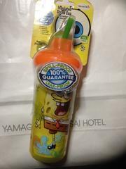 アメリカ購入スポンジボブlnsulated straw cup新品