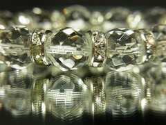 開運パワーストーン??64面ダイヤカット水晶10mm数珠ブレスレット