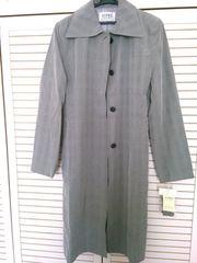 グレーチェックコート シンプル 未使用タグ付 美品