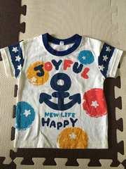 マリン柄Tシャツ80☆新品同様美品