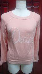 柔らかな肌触り可愛いピンクカラーのニットセーターです(A-720