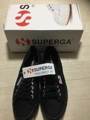 superga 黒スペルガスニーカー新品箱あり39