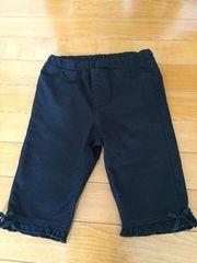 GU 黒の五分丈パンツ 120センチ