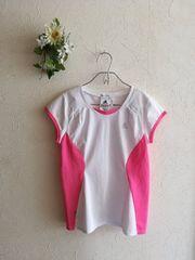 adidas CLIMA COOL☆UVケアTシャツ白×ピンク