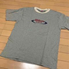 ウィルソンwilson◆メンズ半袖Tシャツ◆Mストライプ