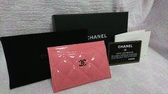 新品未使用 4万円 シャネル CHANELパスケース カードケース パテントピンク定期入れ