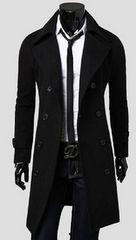 アーバン スタイル メンズ ウールコート ロング100cm超 黒