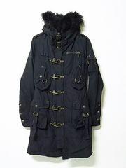 ★スライ★N3Bロングコートミリタリーコートモッズコート極暖裏ボアSLYsly黒ブラック最安値