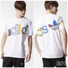 E61O■新品★アディダス オリジナルス Tシャツ クレイジーロゴ