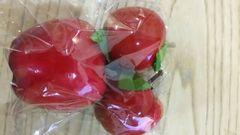 クリスマス雑貨★カントリー赤りんご【大1個、中2個セット】★新品未使用★